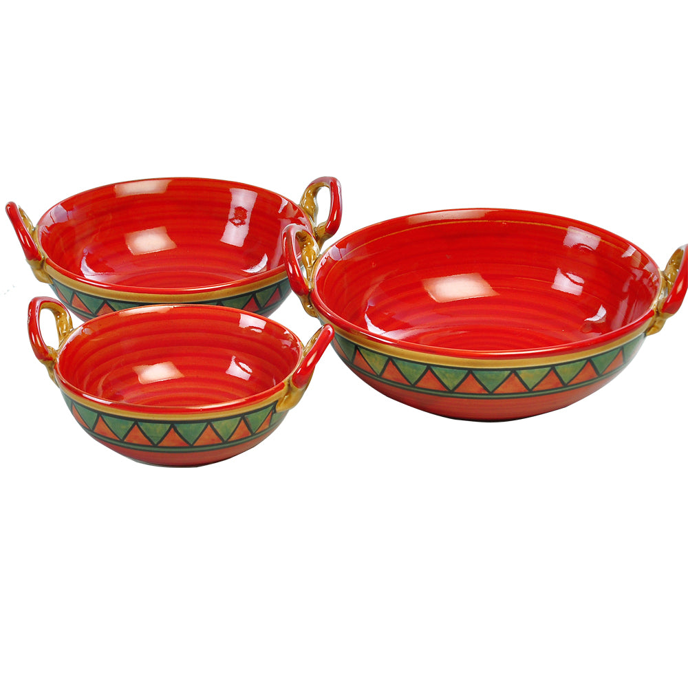 trian-red-n-green-kadhai-set-dec5337