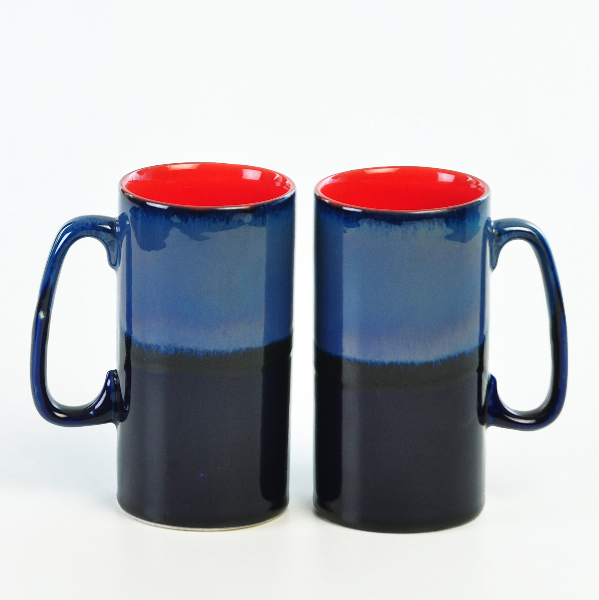 Blue Studio Tunnel Beer Mugs - Set of 2