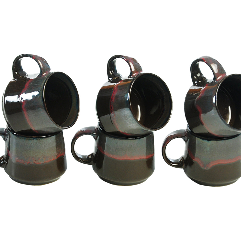 Metallic Cottage Tea Cups - Set of 6
