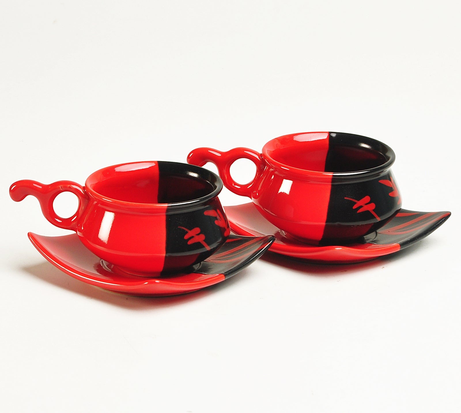 Duett Red and Black Morning Set - Set of 7 pcs