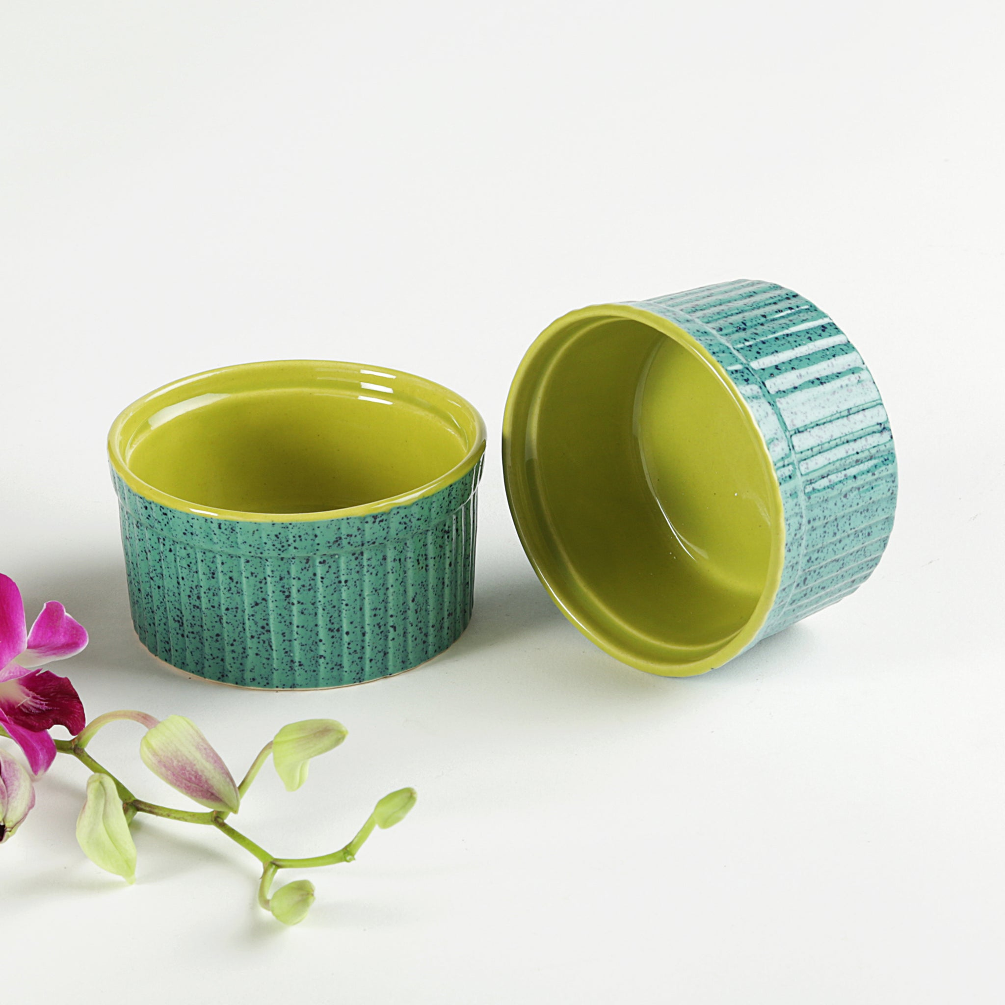 Dessert Bowls - Green - Set of 2