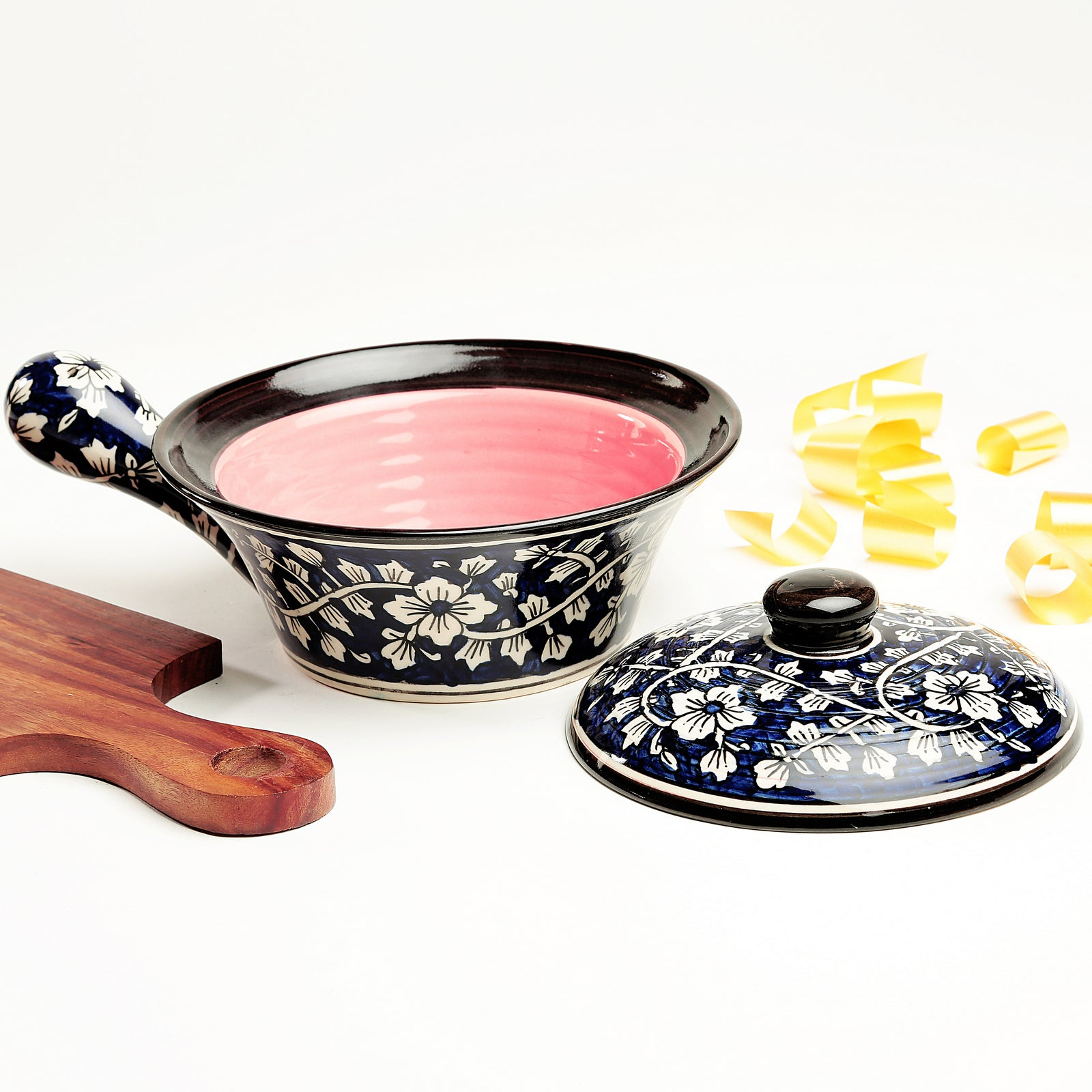 Serve N Style Blue and Pink Mughal Serving Bowl
