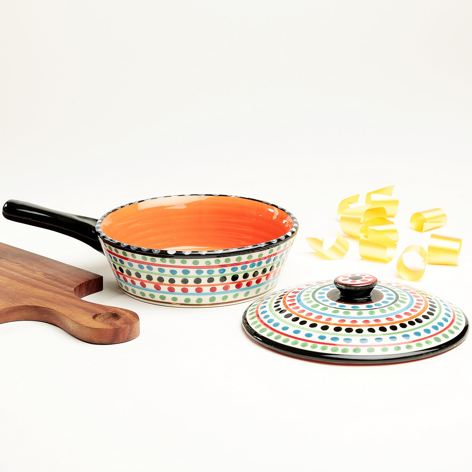 Serve N Style Multicolour Clara Serving Bowl- Medium