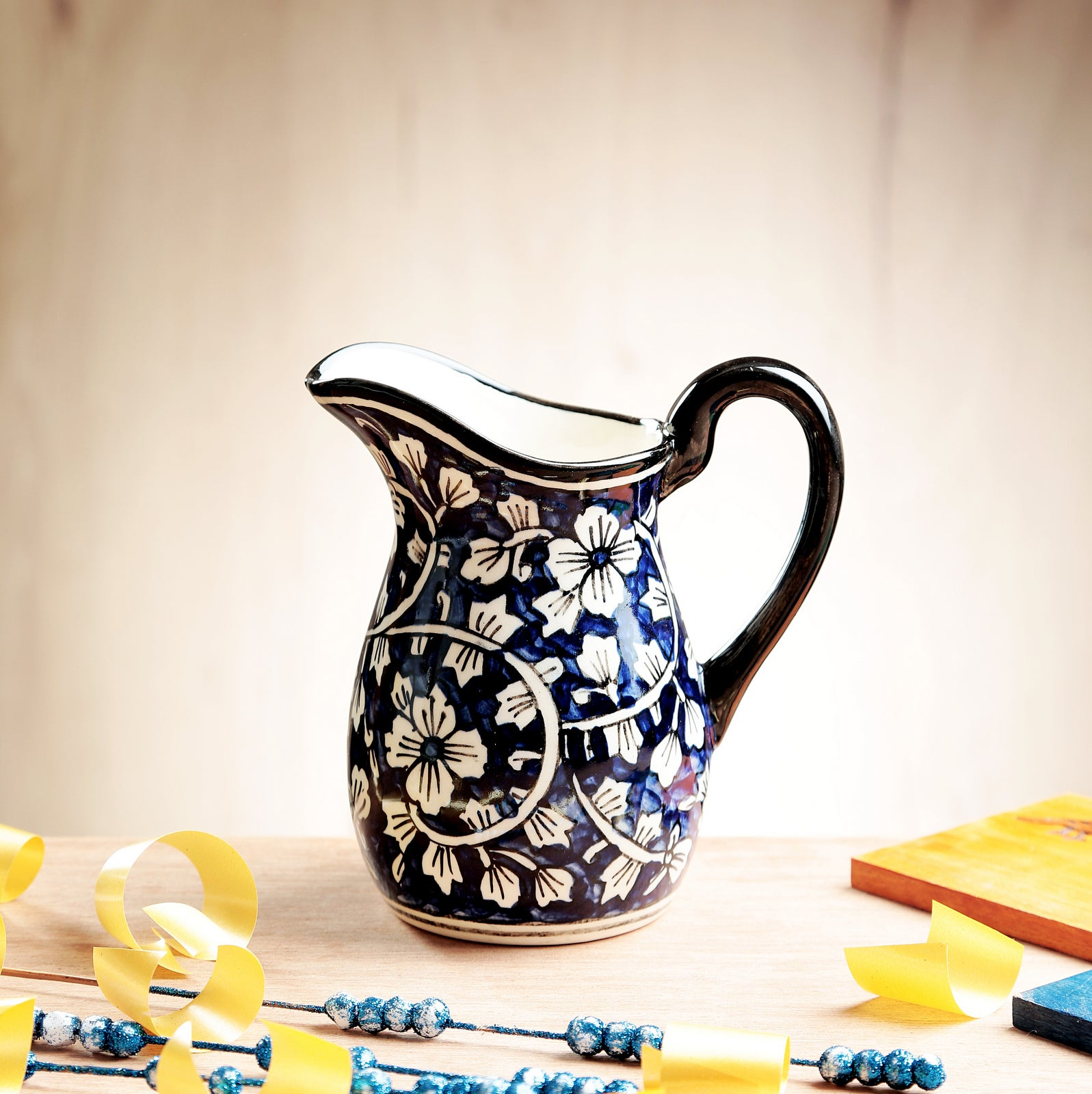 Blue Mughal Pitcher - Extra Small