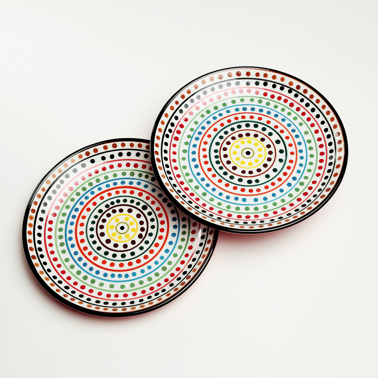 Clara Handpainted Dinner Plates - Set of 2