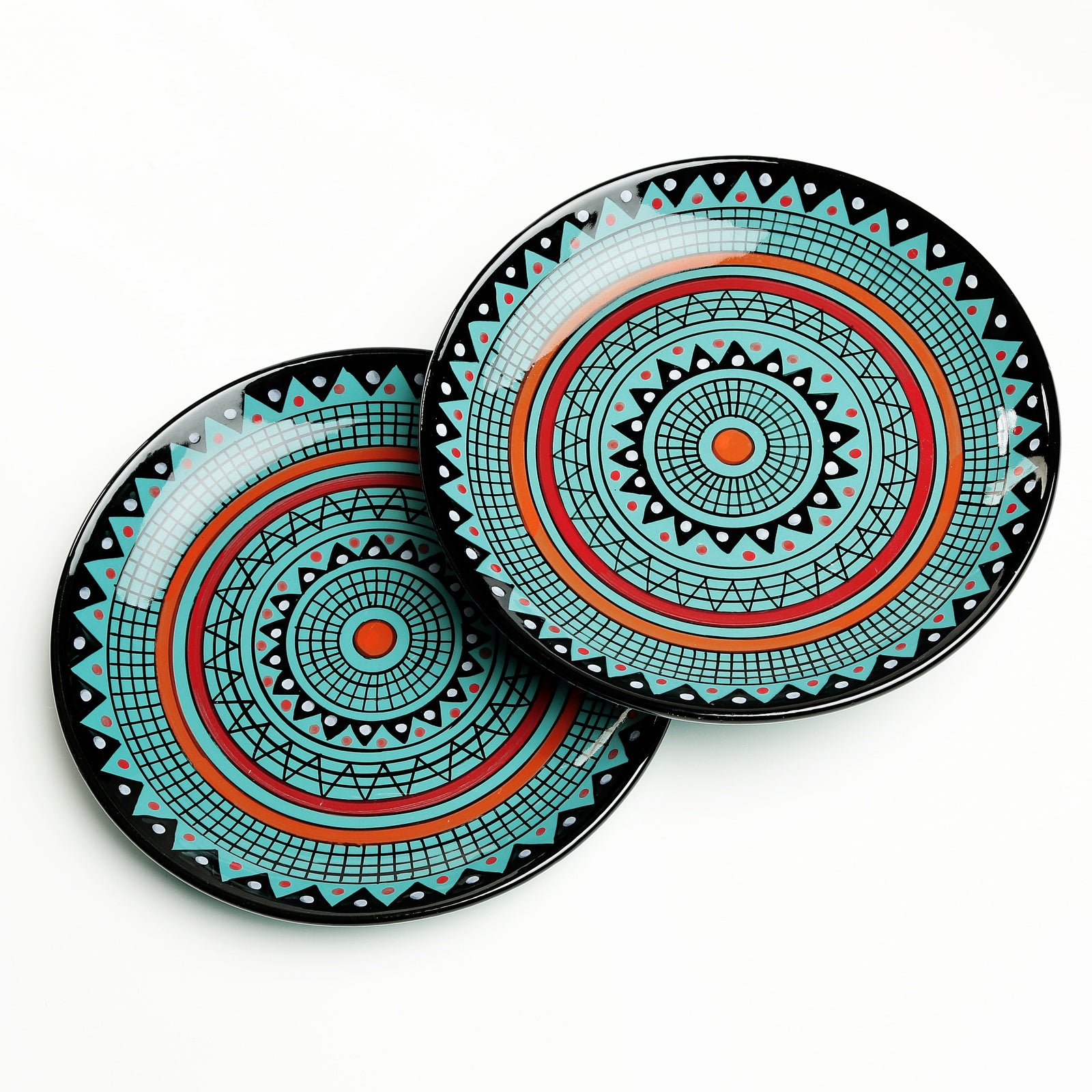Nia Handpainted Dinner Plates - Set of 2