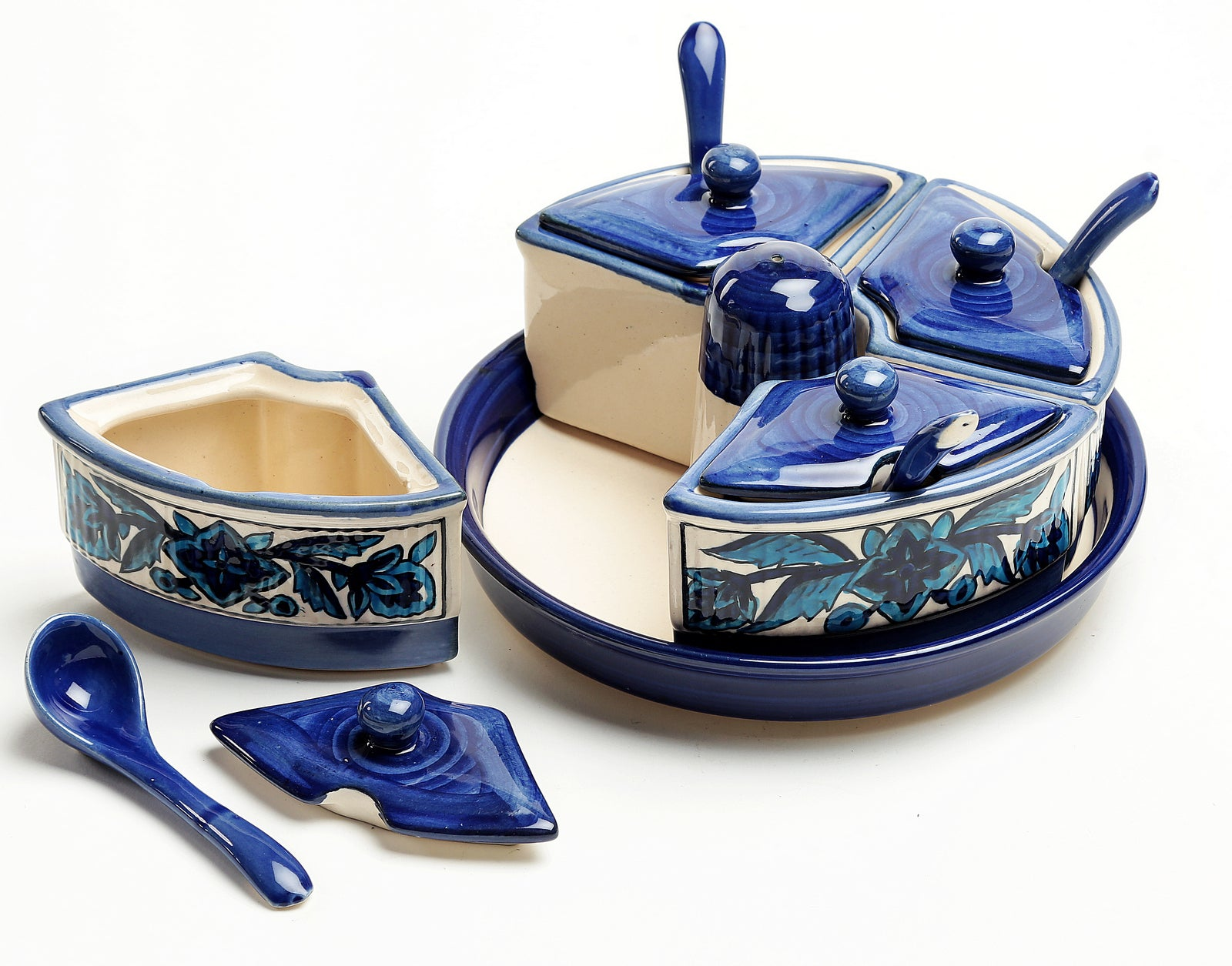 Moroccan  Pickle Set - Set of 4 jars and a salt dispenser