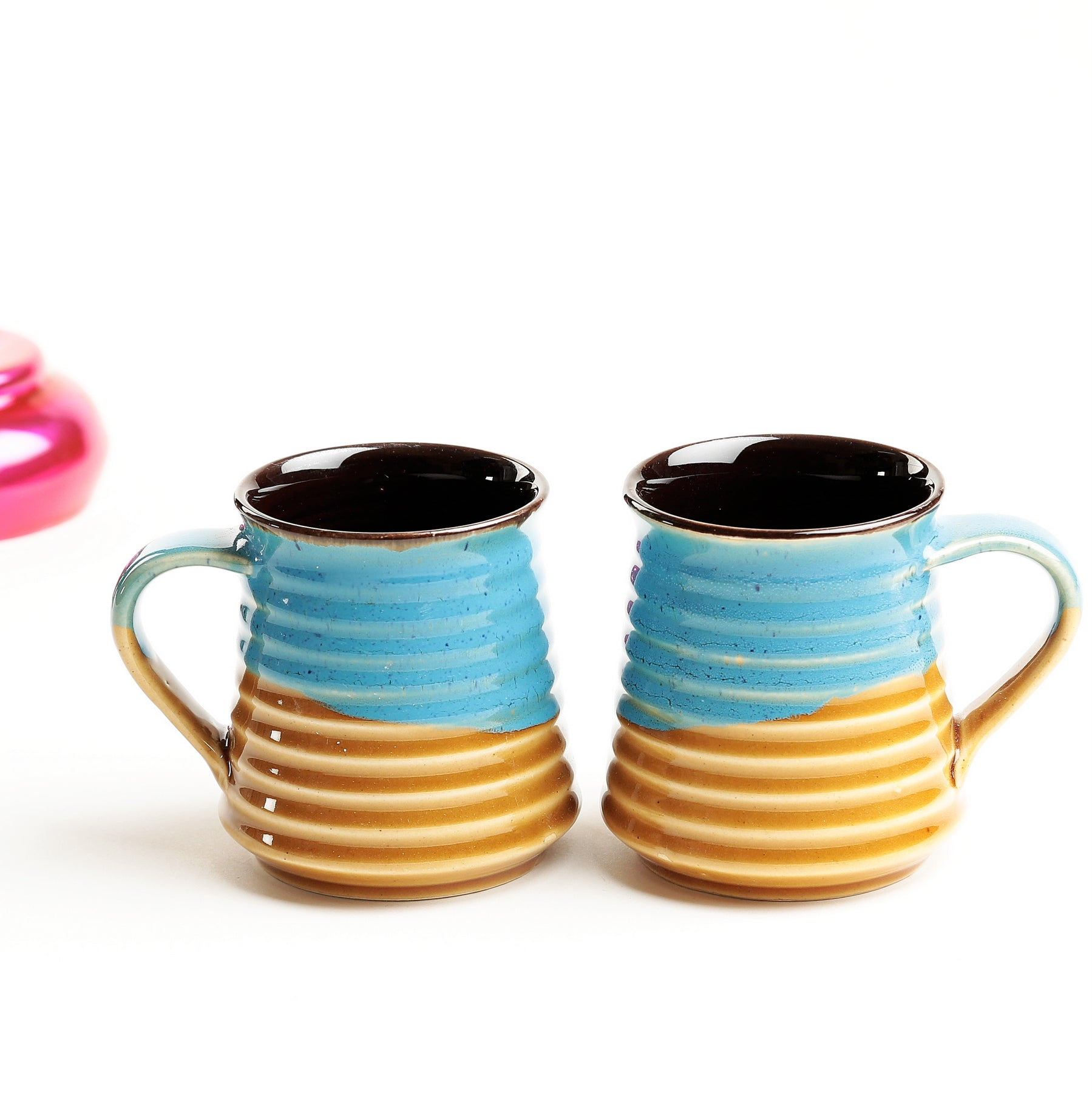 Teal and Yellow Studio Torryn Coffee Mugs - Set of 2