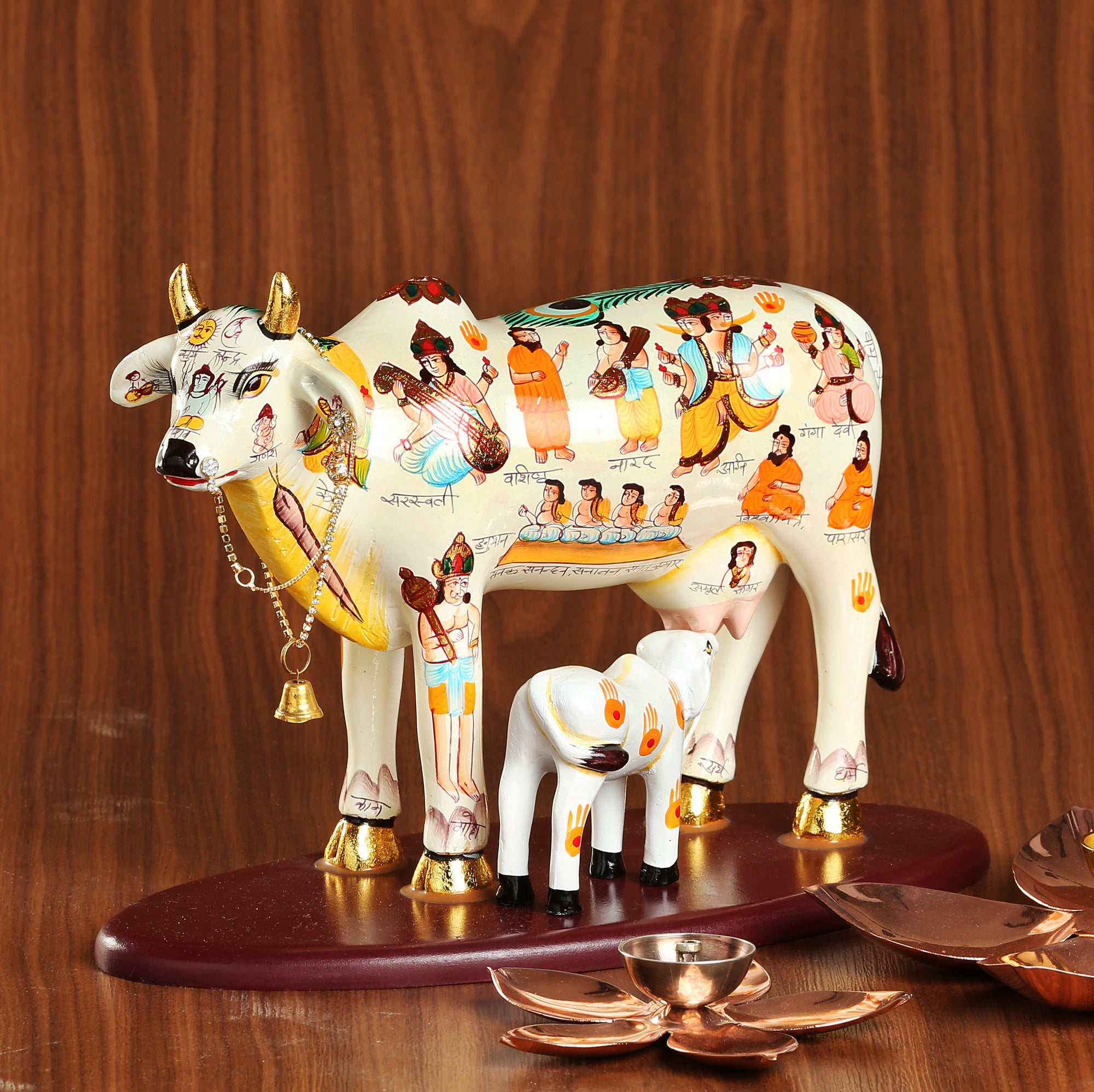 handpainted-8-5-quot-cow-and-calf-on-platform-ds4070