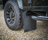 Land Rover Defender 90 Stainless Steel Renegade Mudflap brackets.