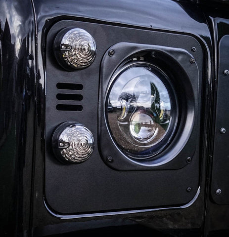 Land Rover Defender Metal headlight surrounds