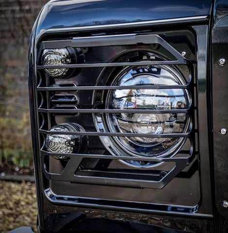 Land Rover Defender Stainless Steel Headlight Guards