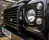 Land Rover Defender Santorini Black headlight surrounds