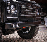 Land Rover Defender Stainless Steel Quad Recessed DRL front bumper