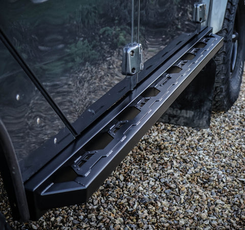 Land Rover Defender stainless steel Rock sliders