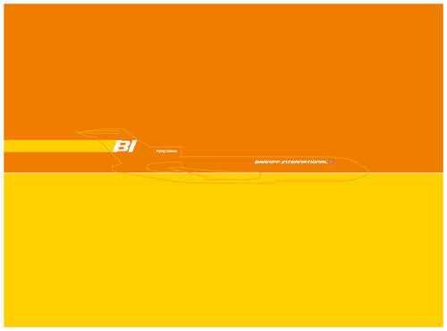 Boeing 727 - Braniff (Orange)