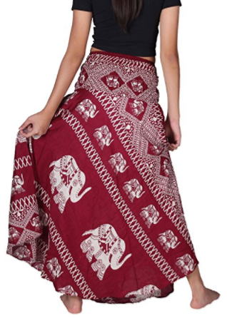 Boho Bangkokpants Women's Long Hippie Elephant Skirt
