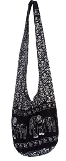 Women's Elephant Pattern Cotton Bohemian Bag