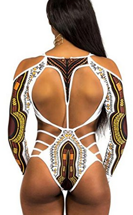 Nala Print Womens Bikini One Piece long sleeved