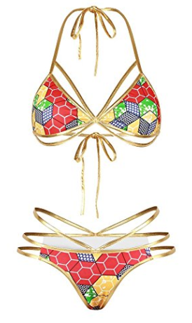 Natalia Tribal High Waist Cheeky Bikini Bottom