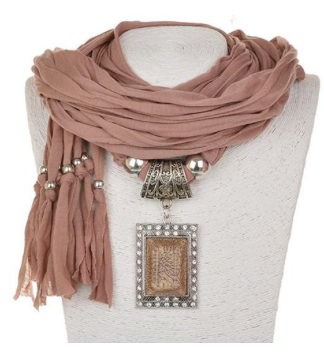 Charm Scarf Necklace Shawl Necklace Scarves Pendant