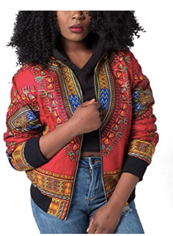 Hotapei African Print Bomber Jacket