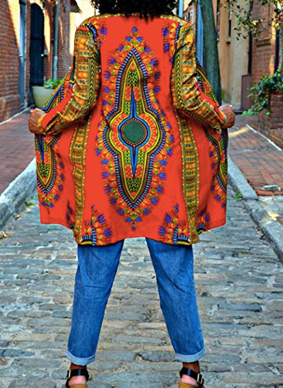Hotapei African Print Trench Coat