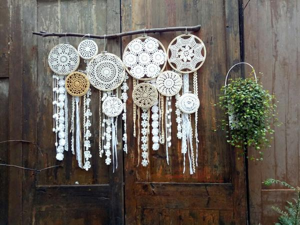"Wanderlace Vintage Style Extra Large Wall Hanging 45"" Dreamcatcher"