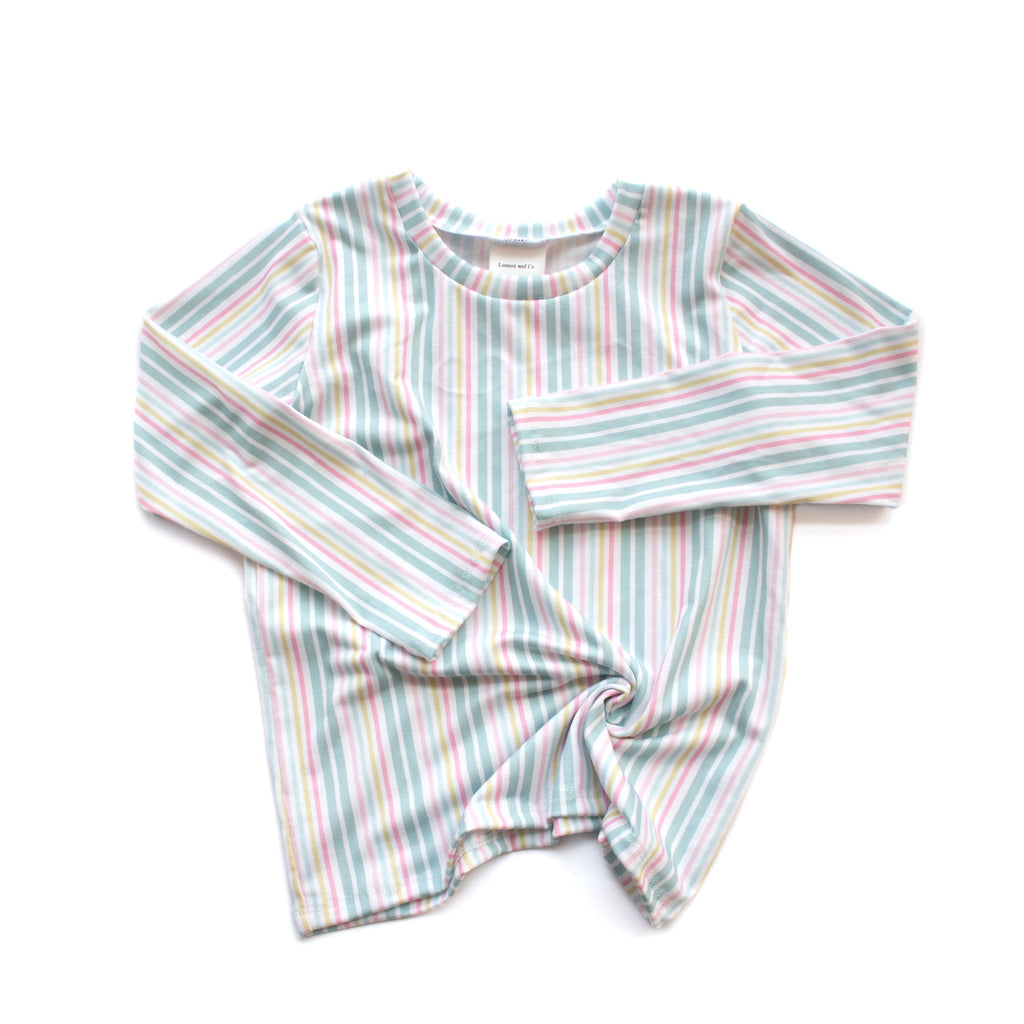 Boardwalk stripes basic tee