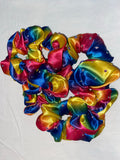 Specialised scrunchie -rainbow and rhinestones