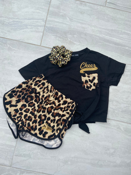 Leopard short & t shirt set