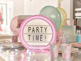 Party illuminations Write Your Own Message Light Box with Neon Look Frame