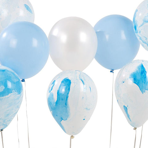 We Heart Blue Marble Balloons