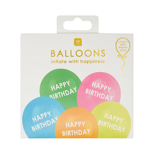 Rainbow Happy Birthday Balloons