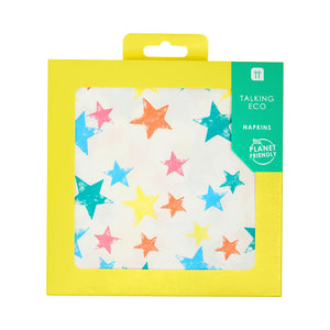 Recyclable Colourful Star Napkins (Pack of 20) - Talking Tables