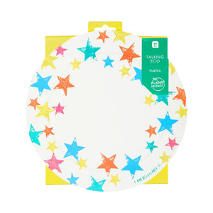 Recyclable Colourful Star Paper Plates (Pack of 12) - Talking Tables