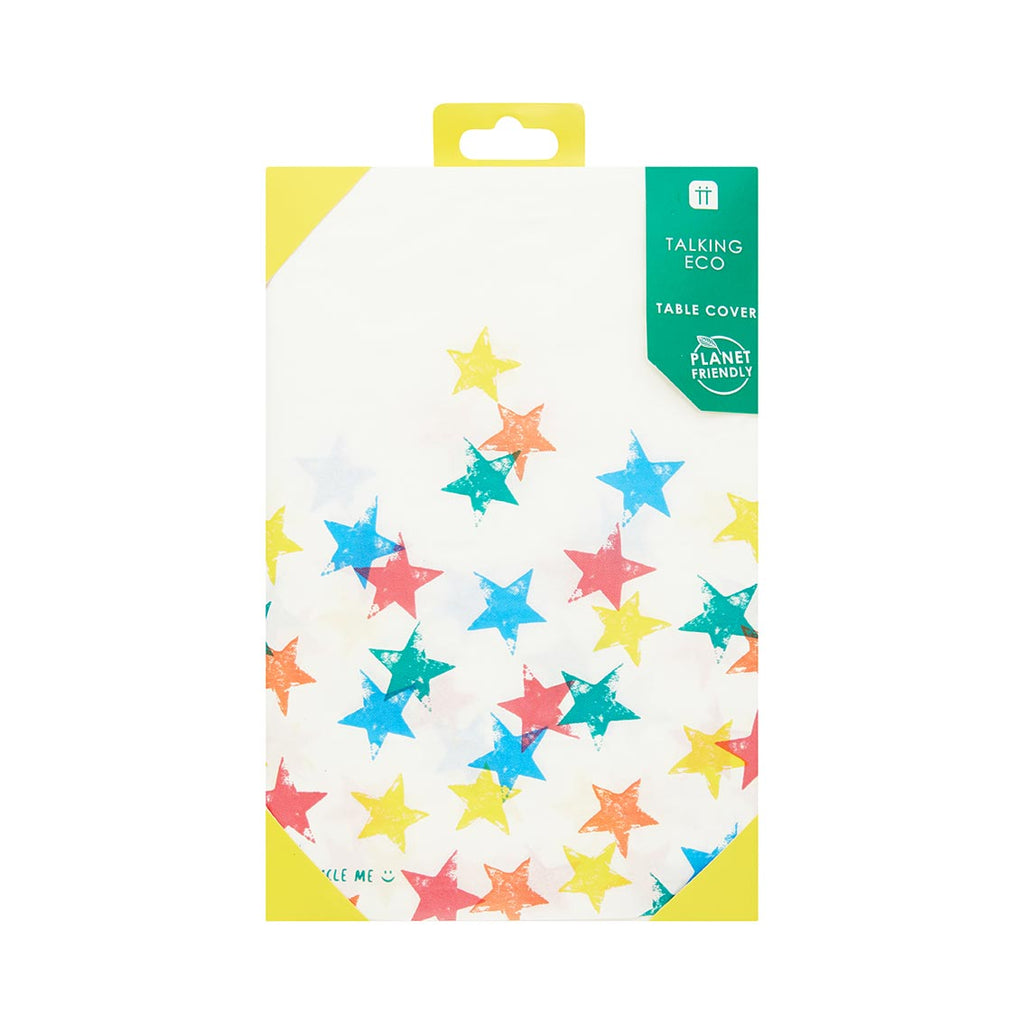 Recyclable Colourful Star Paper Table Cover (Pack of 1) - Talking Tables