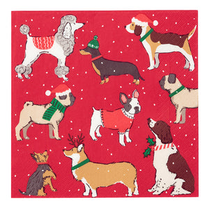 Botanical Christmas Dog Napkin