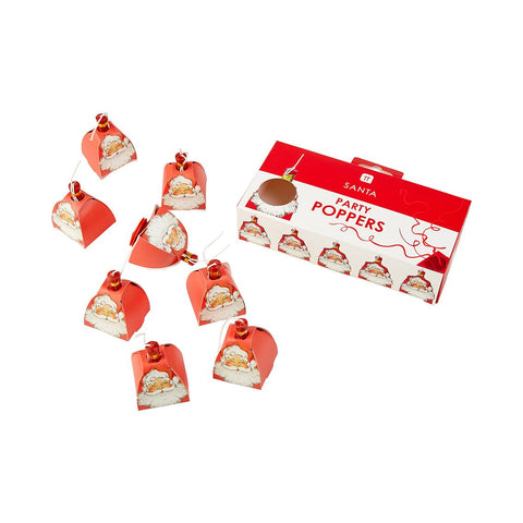 Botanical Santa Poppers 8 Pack