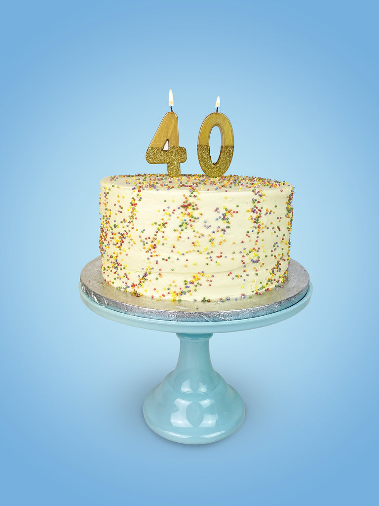 We Heart Birthdays Gold Glitter Number Candle 4