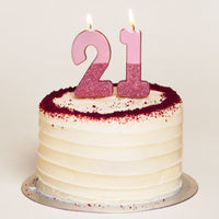 Rose Gold Glitter Number 2 Birthday Candle - Talking Tables