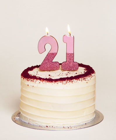 Rose Gold Glitter Number 1 Birthday Candle - Talking Tables
