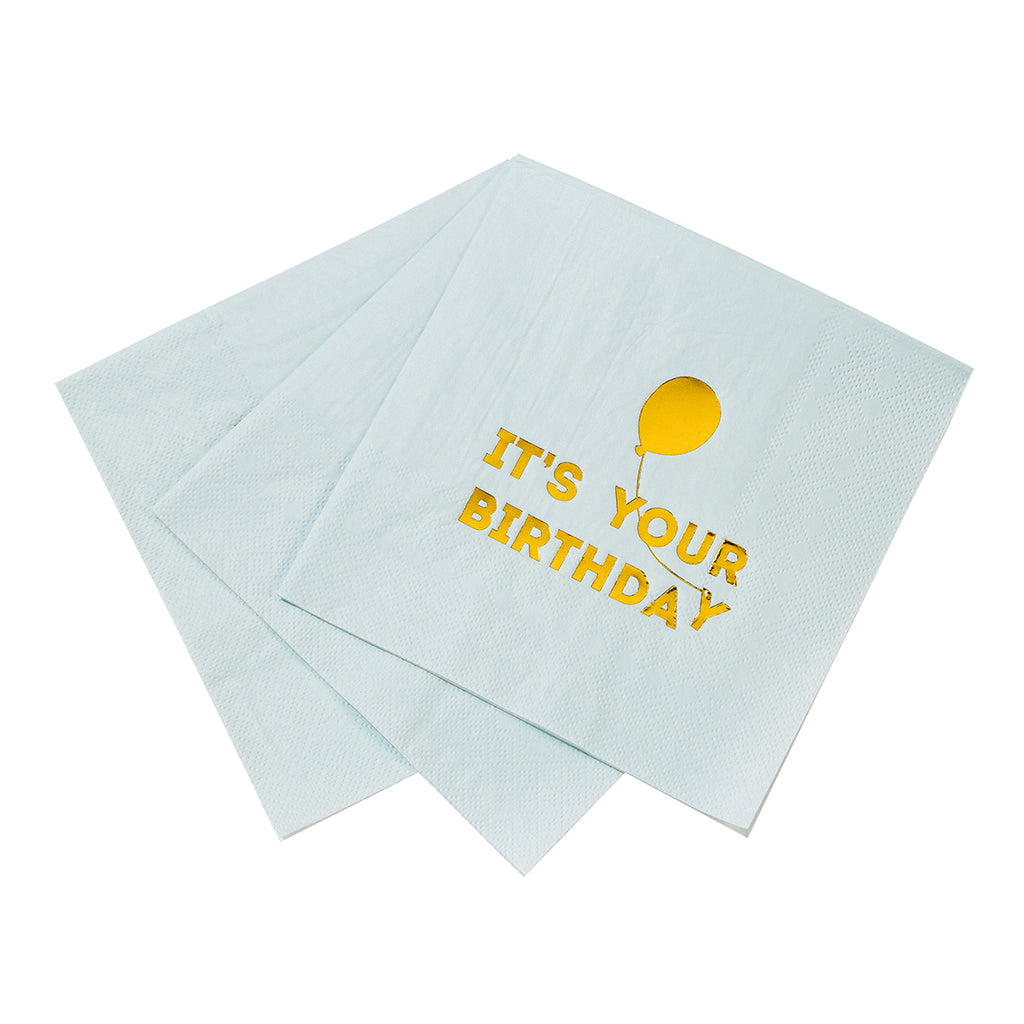 We Heart Birthdays Blue Napkins