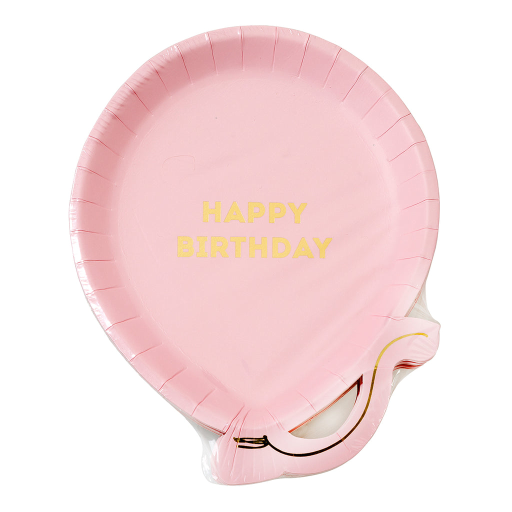 We Heart Birthdays Pink Balloon Plates