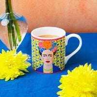 Boho Frida Khalo Bone China Mug 8Oz