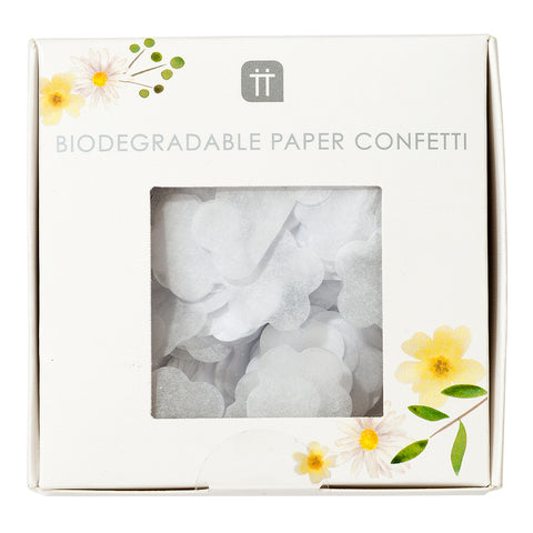 White Biodegradable Confetti for Wedding