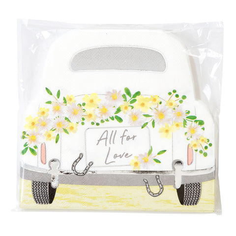 Boho Wedding Car Napkins (Pack of 16)