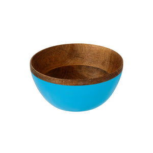 Blue coloured Mango Wood Bowl