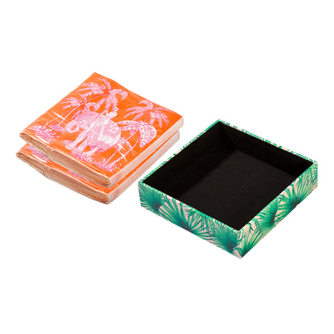 Palm Print Napkin Holder Box