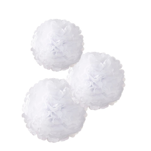 Decadent Decs PomPom White Mix